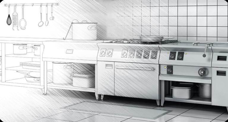 industrijske profesionalne kuhinje