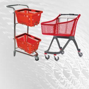 Korpe i kolica za kupovinu